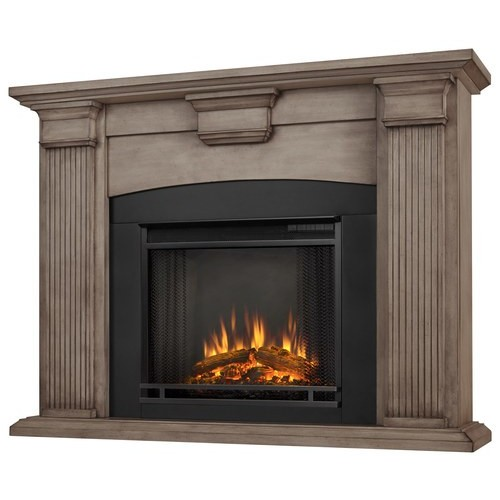Real Flame - Adelaide Electric Fireplace - Dry Brush White