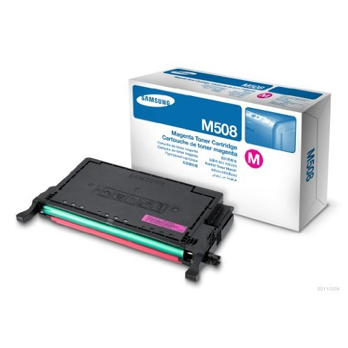 Samsung CLT-M508L Magenta Toner Cartridge, High Yield 4K [1 Pack]