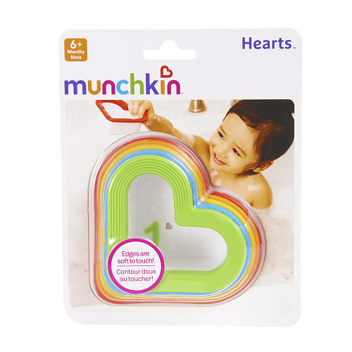 Munchkin Hearts Bath Toy 5 pack - Multicolor