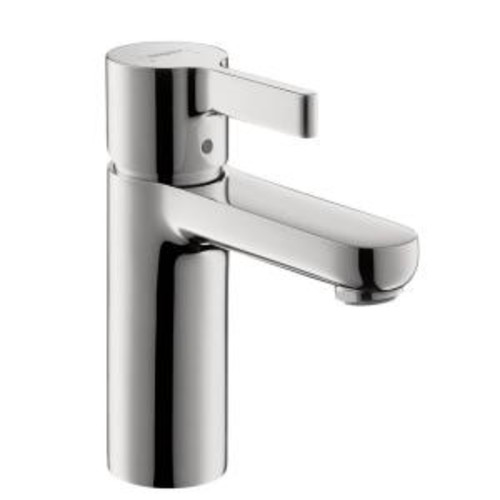 Hansgrohe Metris S Single Hole Single-Handle Mid-Arc Bathroom Faucet in Chrome