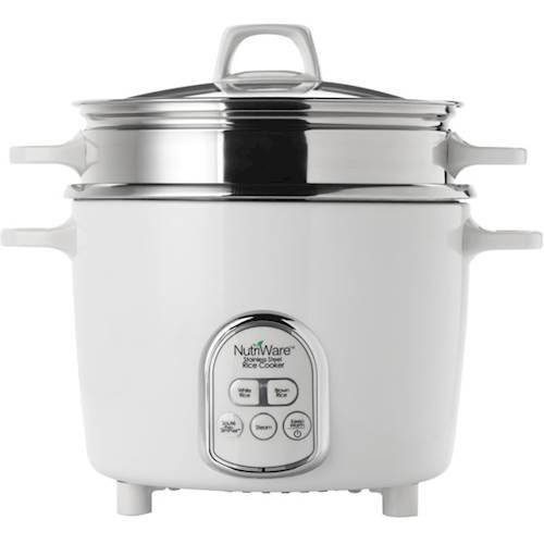 NutriWare - 14-Cup Rice Cooker - White