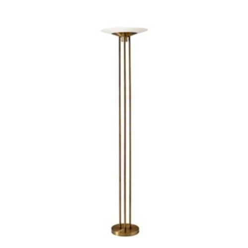 Adesso Newton LED Antique Brass Torchiere 71