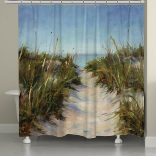 Laural Home Sand Dunes Shower Curtain in Blue/Green