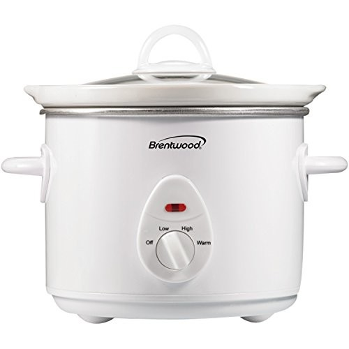 Brentwood SC-135W Appliances 3 quart Slow Cooker, White