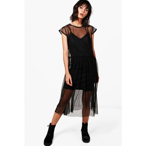 Lucy Dobby Mesh Dress