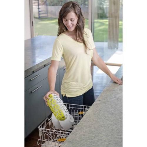 Boon CLUTCH Dishwasher Basket in White/Green
