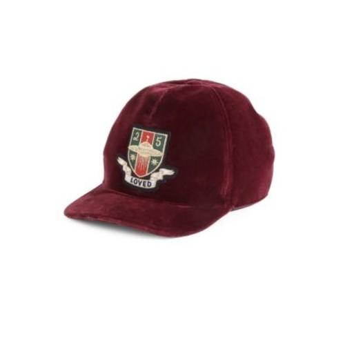 GUCCI Embroidered Velvet Baseball Cap