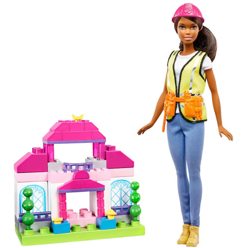 Barbie Brunette Builder Doll & Playset by Mattel