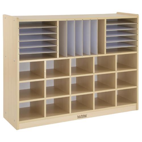 ECR4Kids Birch Multi-Section Storage Cabinet [No Bins, Standard Packaging, without Bins]