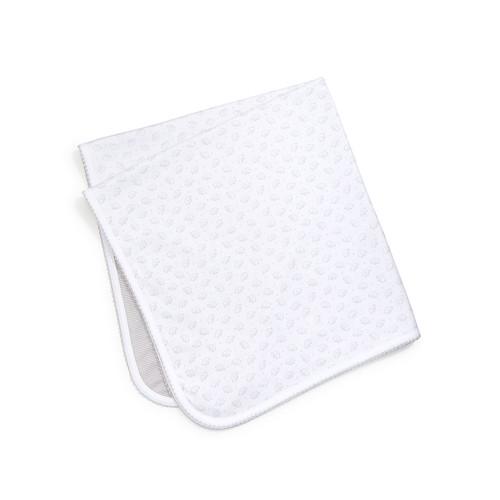 Baby Elephants Reversible Pima Blanket, Gray/White