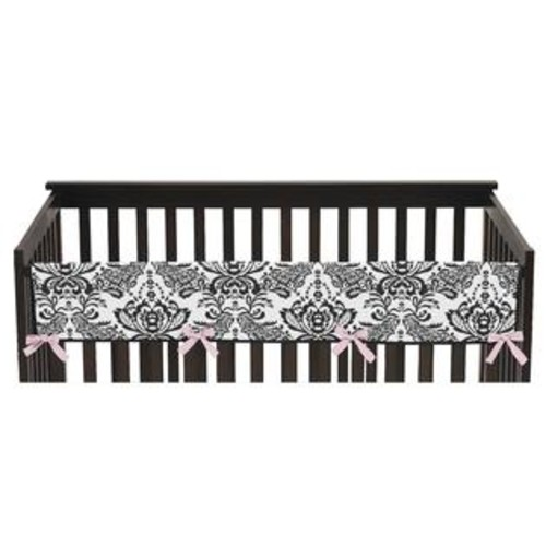 Sweet Jojo Designs Long Crib Rail Guard Cover for Sophia Collection