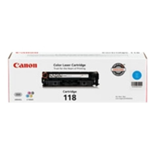 CANON USA 2661B001 CANON CARTRIDGE 118 CYAN TONER - FOR CANON IMAGECLASS LBP7200CDN, LBP7660CDN, MF