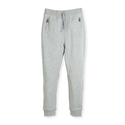 BURBERRY Phill Cotton Track Pants, Gray, Size 4-14