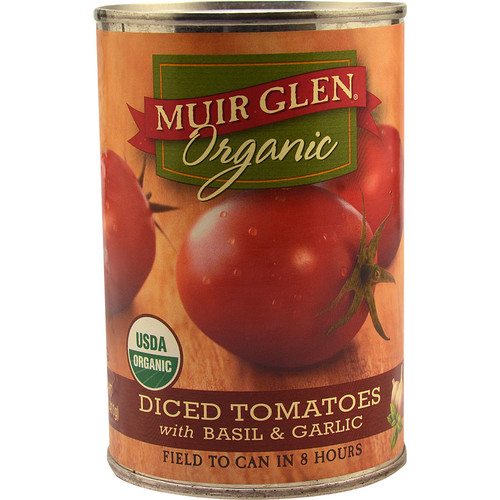 Muir Glen Organic Diced Tomatoes Basil & Garlic -- 14.5 fl oz