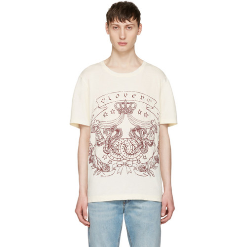 GUCCI Ivory 'Loved' Logo T-Shirt