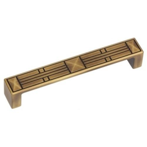 GlideRite 5-inch CC Craftsman Series Antique Brass Cabinet Pulls (Case of 25)