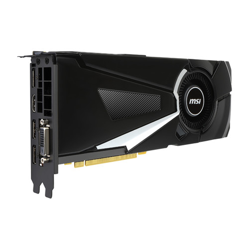 MSI GeForce GTX 1070 DirectX 12 GTX 1070 AERO 8G OC 8GB 256-Bit GDDR5 PCI Express 3.0 x16 HDCP Ready SLI Support ATX Video Card