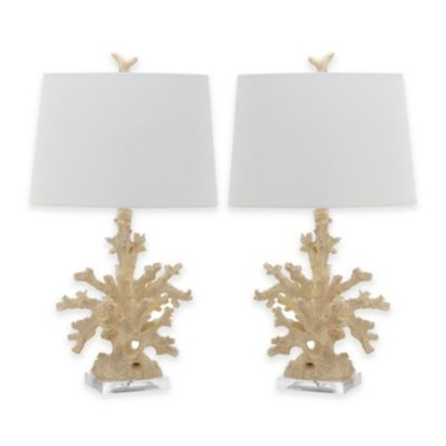 Safavieh Coral Branch Table Lamps in Cream (Set of 2)