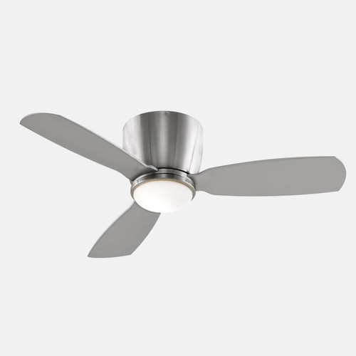 Embrace Ceiling Fan with Light [Finish : Brushed Nickel \/ Brushed Nickel blades]