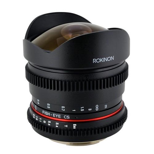 Rokinon RK8MV-NEX 8mm t/3.8 Cine Fisheye Lens for Sony E-mount (NEX) Video DSLR with De-Clicked Aperture Wide-Angle Lens