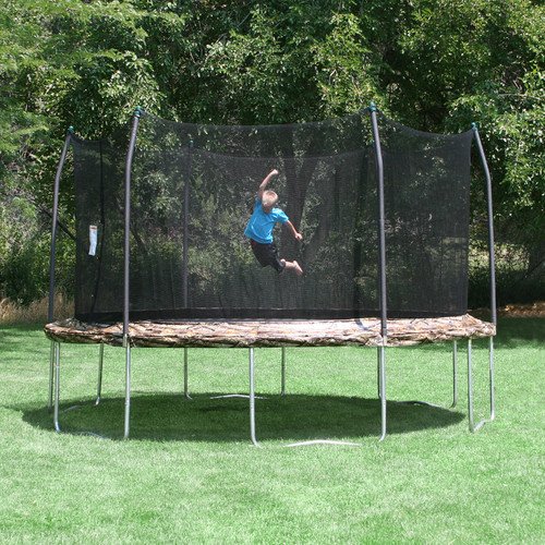 Skywalker Trampolines 15' Round Trampoline and Enclosure, Camouflage (Box 1 of 2)
