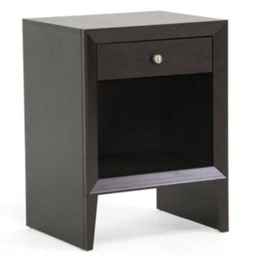 Baxton Studio Leelanau Accent Table and Nightstand in Dark Brown