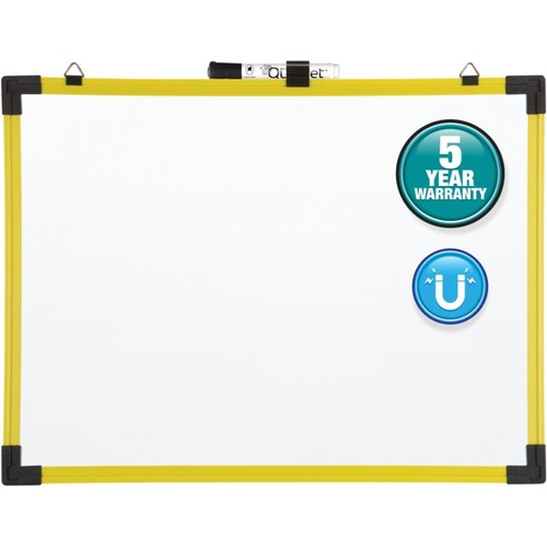 Quartet Industrial Magnetic Dry-Erase Whiteboard, Steel, 36