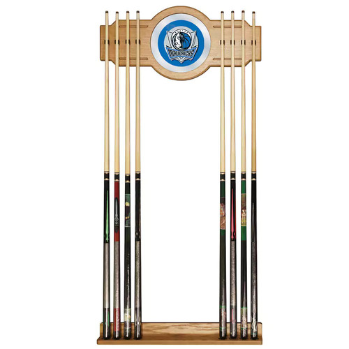 Dallas Mavericks NBA Billiard Cue Rack with Mirror