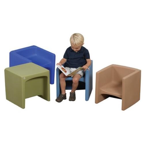 Cozy Woodland 4 Piece Cube Chair Set