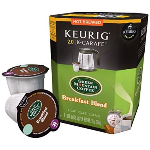Keurig K-Carafe Packs, Green Mountain Coffee Breakfast Blend, 8-Count