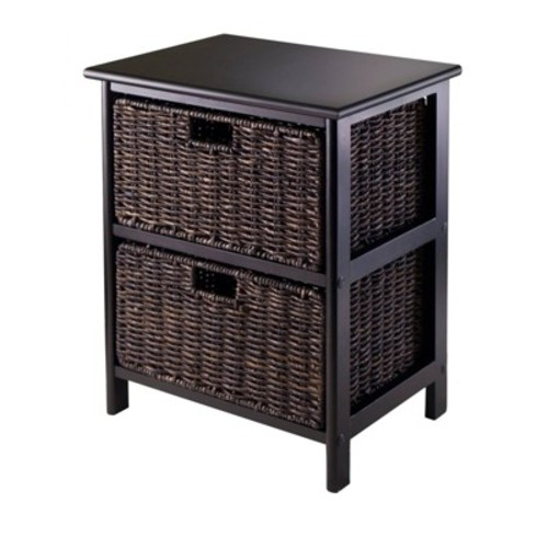 Winsome Omaha Storage Rack with 2-Foldable Basket [2 Baskets]