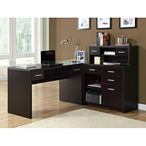 Cappuccino Wood File Cabinet with Casters