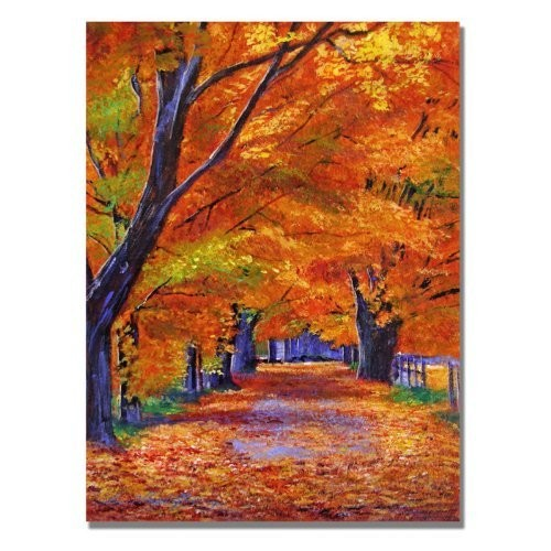 Leafy Lane by David Lloyd Glover, 18x24-Inch Canvas Wall Art [18 by 24-Inch]