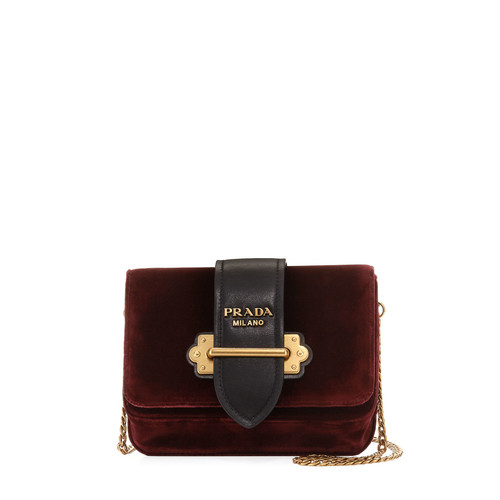 PRADA Velvet Cahier Trunk Belt Bag