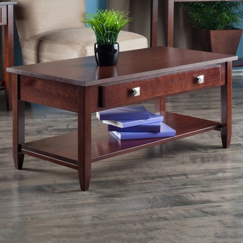 Winsome 94140 Richmond Coffee Table with Tapered Legs - Antique Walnut