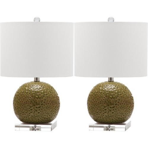 Safavieh Green Table Lamps (Set of 2)