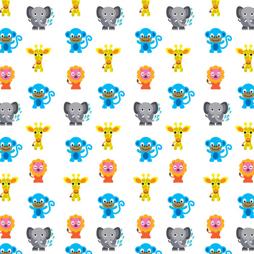 French Bull Jungle Party Temporary Wallpaper