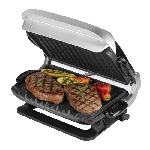 George Foreman GRP4EMB Multi-Plate Evolve Grill, (Grilling Plates, Deep-Dish Bake Pan, and Muffin Pan Included), Black