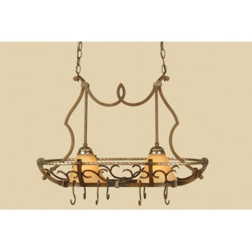 AF Lighting Wentworth 2-Light Island Pendant with Cream Alabaster Glass Shades, Bronze Crackle