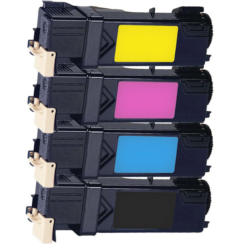 Xerox 6130 Compatible Toner Cartridge Black Cyan Magenta Yellow For 6130 6130N ( Pack of 4 )