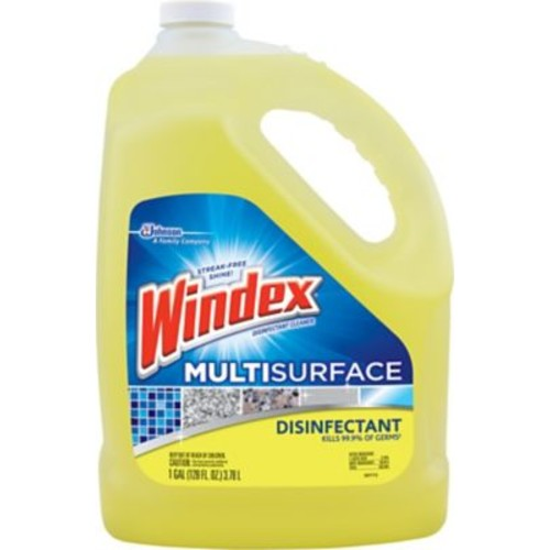 Windex Antibacterial Multi-Surface Cleaner Refill, 1 Gallon
