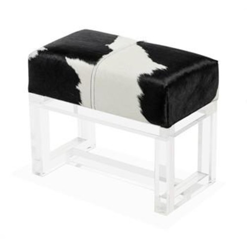 Avalon Spotted Hide Stool design by Interlude Home