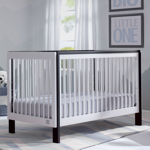 Serta Fremont 3-in-1 Convertible Crib - Bianca White with Ebony