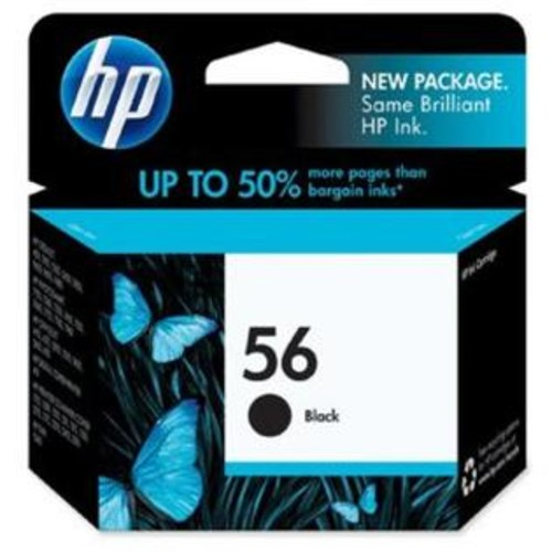 Generic Remanufactured Ink Cartridge Replacement for HP 56 (C6656AN) (Black)