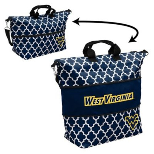West Virginia State University Quatrefoil Expandable Tote in Navy