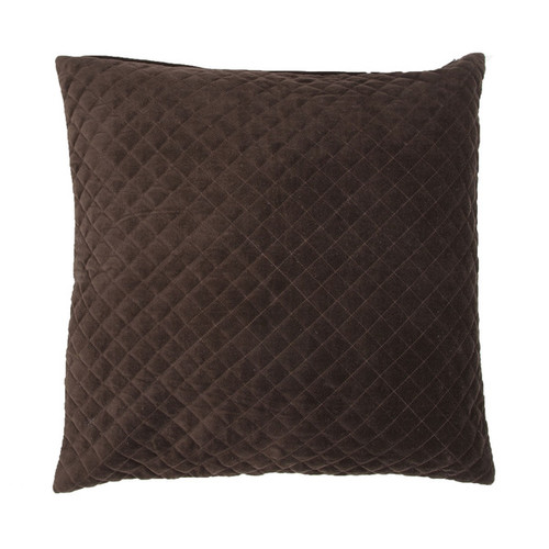 Handmade Solid Brown 22-inch Throw Pillow