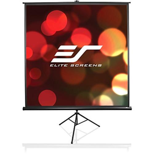 Elite Screens Tripod Portable Manual Pull-Up Projector Screen, 50