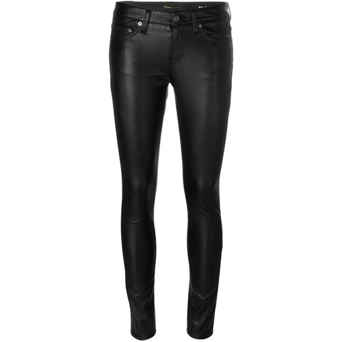 SAINT LAURENT Leather-Look Skinny Trousers