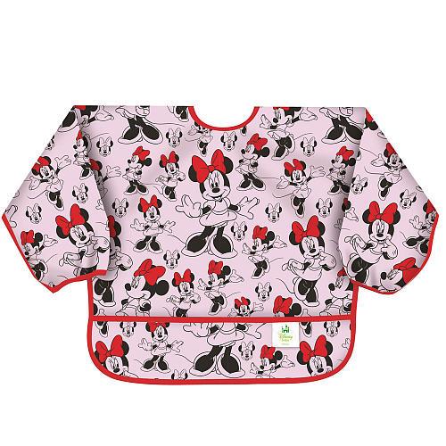 Bumkins Disney Baby Waterproof Sleeved Bib - Classic Minnie Mouse