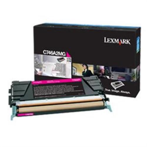 Lexmark C746A2MG Magenta Toner Cartridge C746A2MG